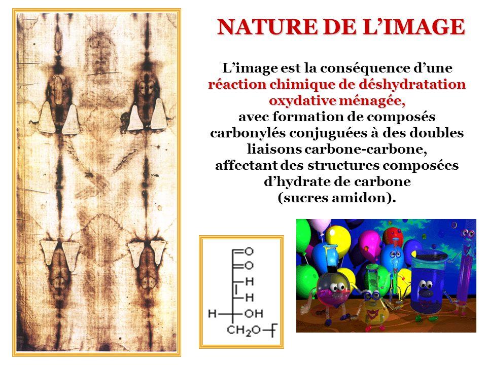 réaction chimique de déshydratation oxydative ménagée, Limage est la conséquence dune réaction chimique de déshydratation oxydative ménagée, avec form