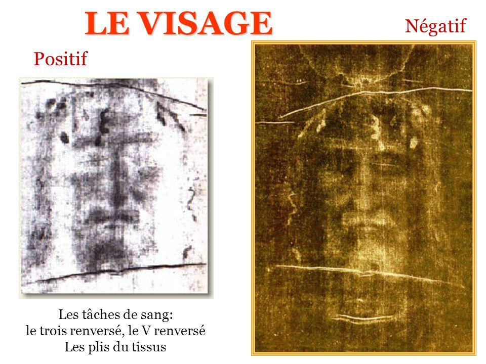 Les tâches de sang: le trois renversé, le V renversé Les plis du tissus Positif Négatif LE VISAGE