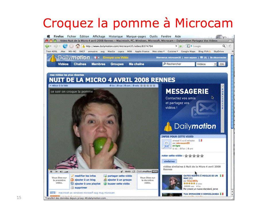 Croquez la pomme à Microcam 15