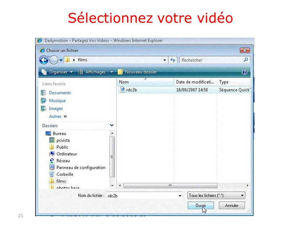 Sélectionnez votre vidéo 21