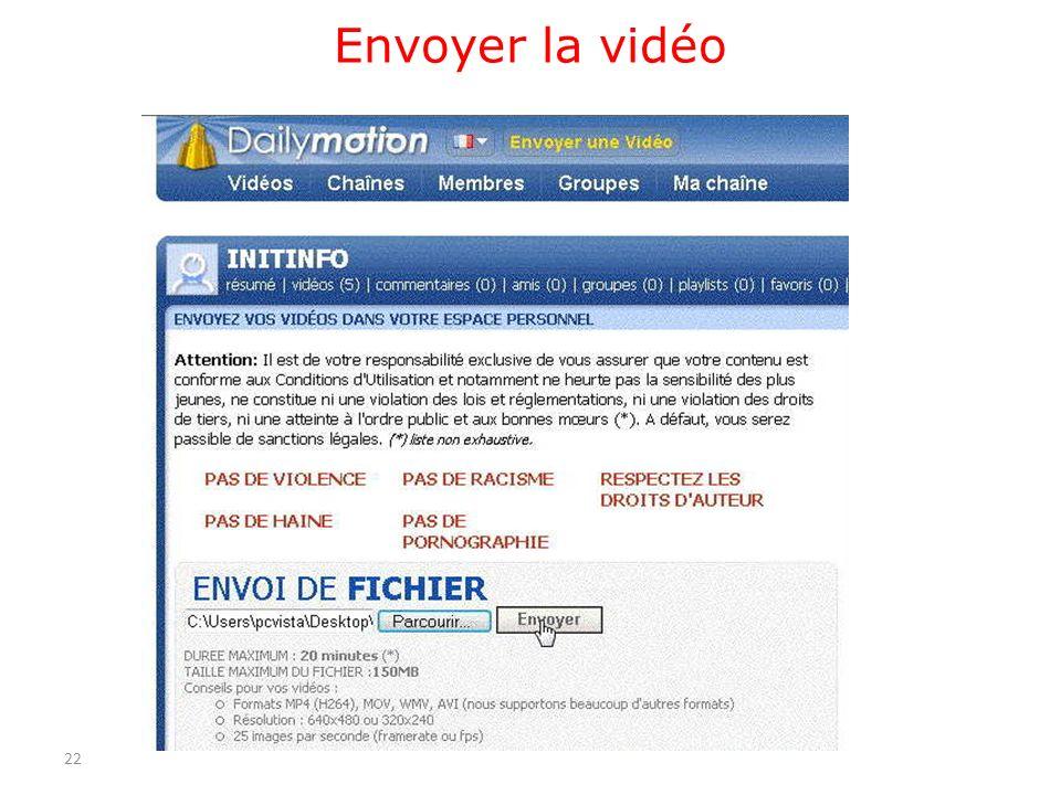 Envoyer la vidéo 22