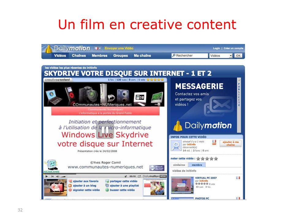 Un film en creative content 32
