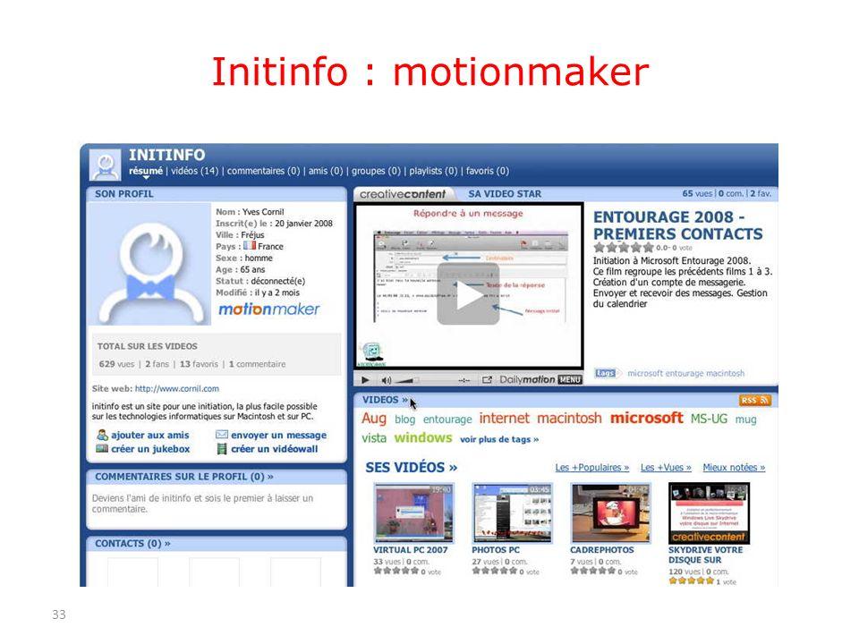 Initinfo : motionmaker 33