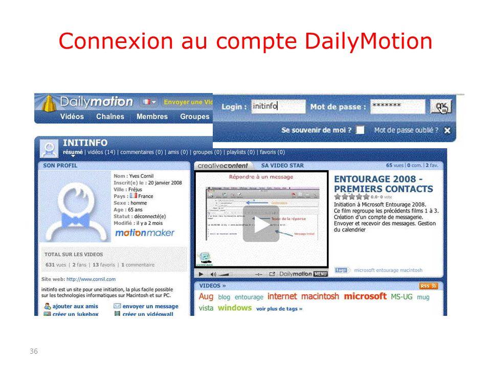Connexion au compte DailyMotion 36