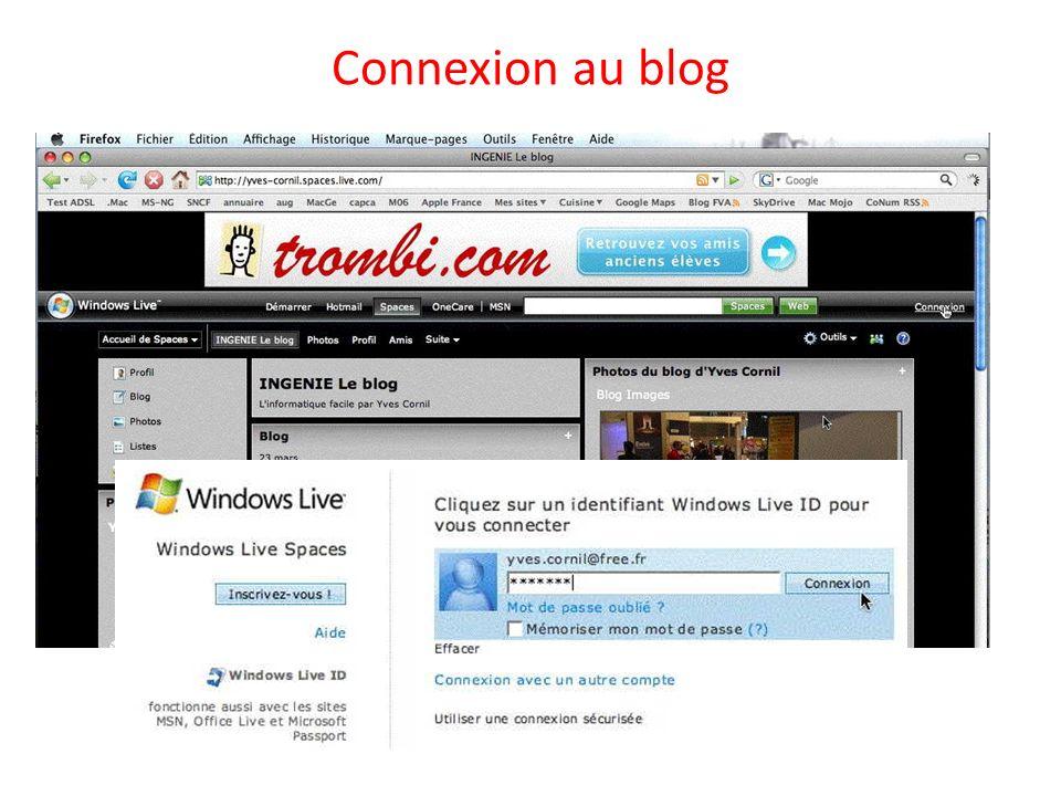 Connexion au blog