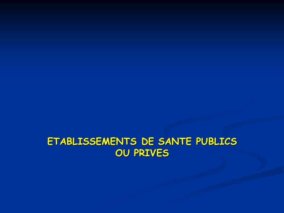 ETABLISSEMENTS DE SANTE PUBLICS OU PRIVES