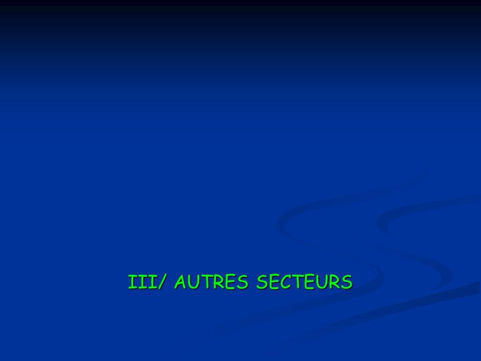 III/ AUTRES SECTEURS