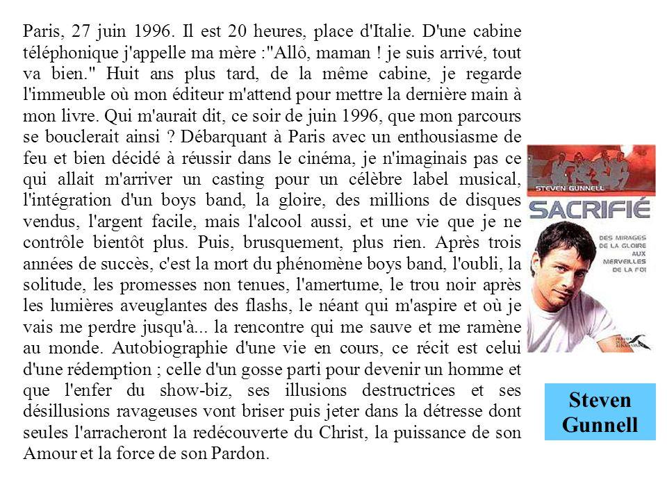 Paris, 27 juin 1996. Il est 20 heures, place d'Italie. D'une cabine téléphonique j'appelle ma mère :