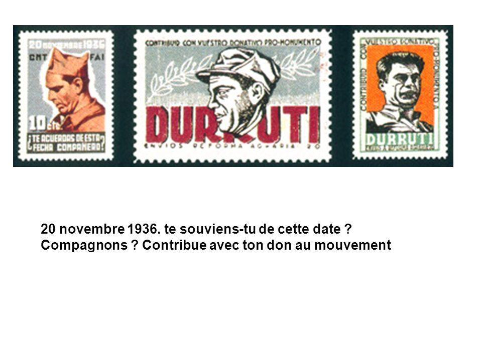 20 novembre 1936. te souviens-tu de cette date ? Compagnons ? Contribue avec ton don au mouvement