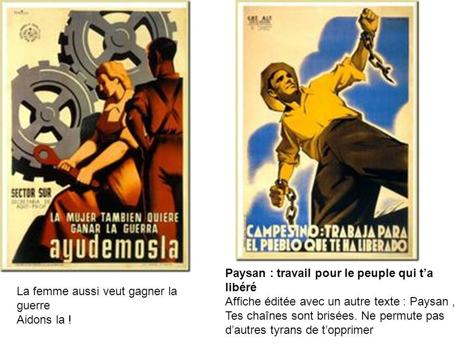 Paysan : travail pour le peuple qui ta libéré Affiche éditée avec un autre texte : Paysan, Tes chaînes sont brisées. Ne permute pas dautres tyrans de
