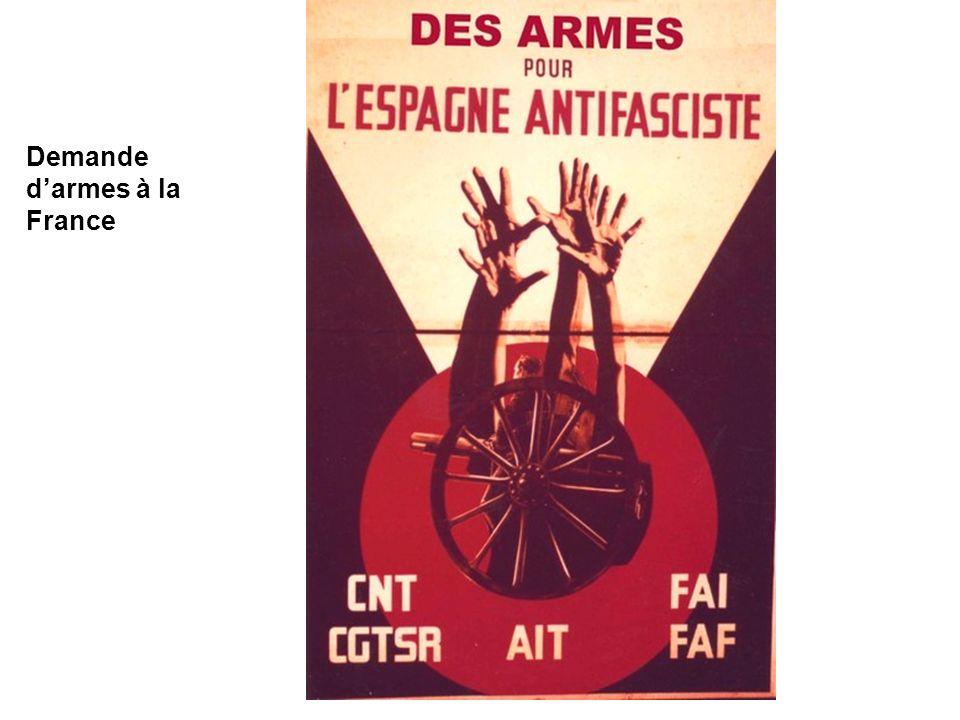 Demande darmes à la France