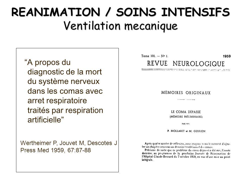 EXAMENS PARACLINIQUES 2 électroencéphalogrammes nuls et aréactifs effectués à un intervalle minimum de 4 heures.