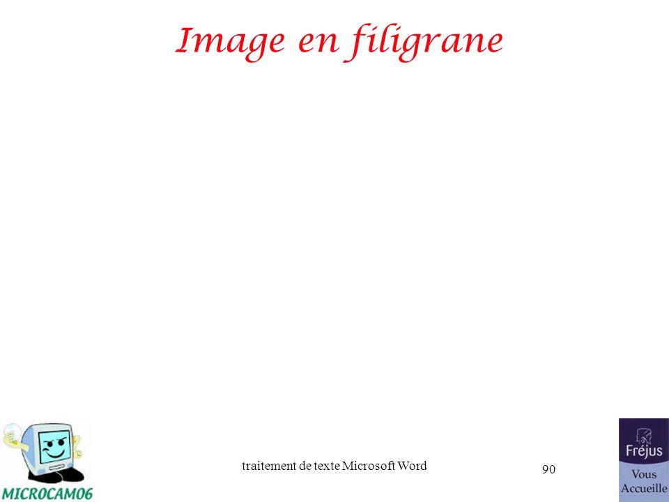traitement de texte Microsoft Word 90 Image en filigrane