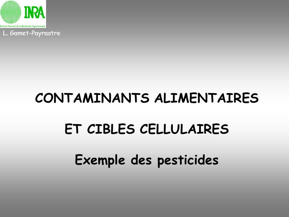 CONTAMINANTS ALIMENTAIRES ET CIBLES CELLULAIRES Exemple des pesticides L. Gamet-Payrastre