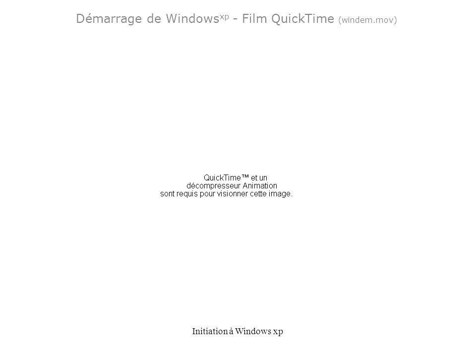 Initiation à Windows xp Démarrage de Windows xp - Film QuickTime (windem.mov)