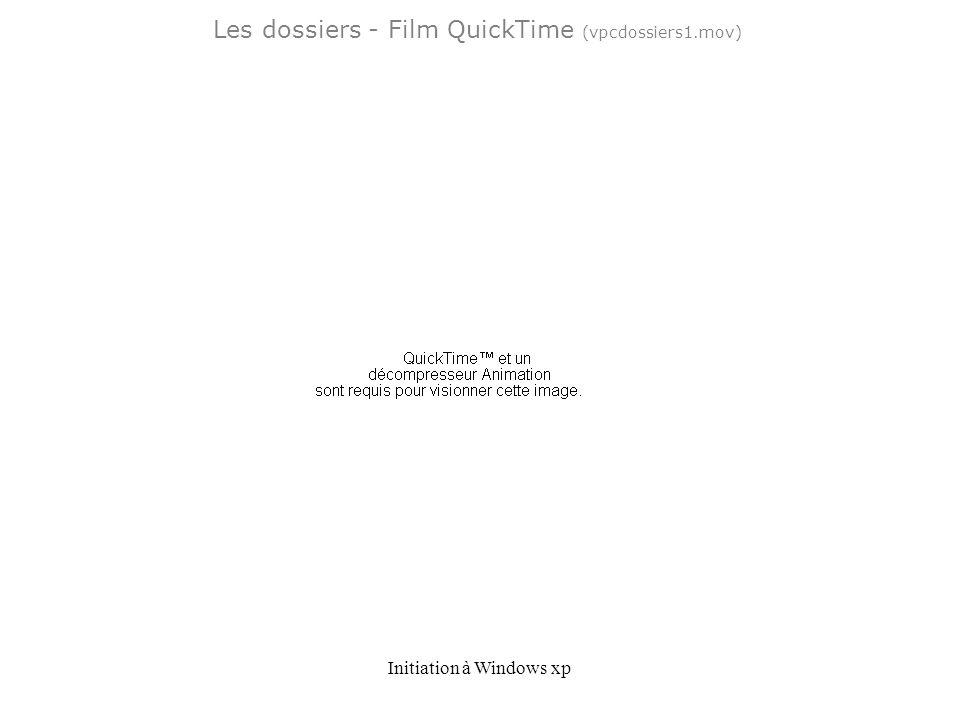 Initiation à Windows xp Les dossiers - Film QuickTime (vpcdossiers1.mov)