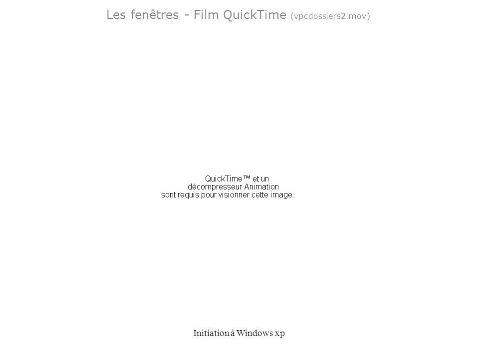 Initiation à Windows xp Les fenêtres - Film QuickTime (vpcdossiers2.mov)