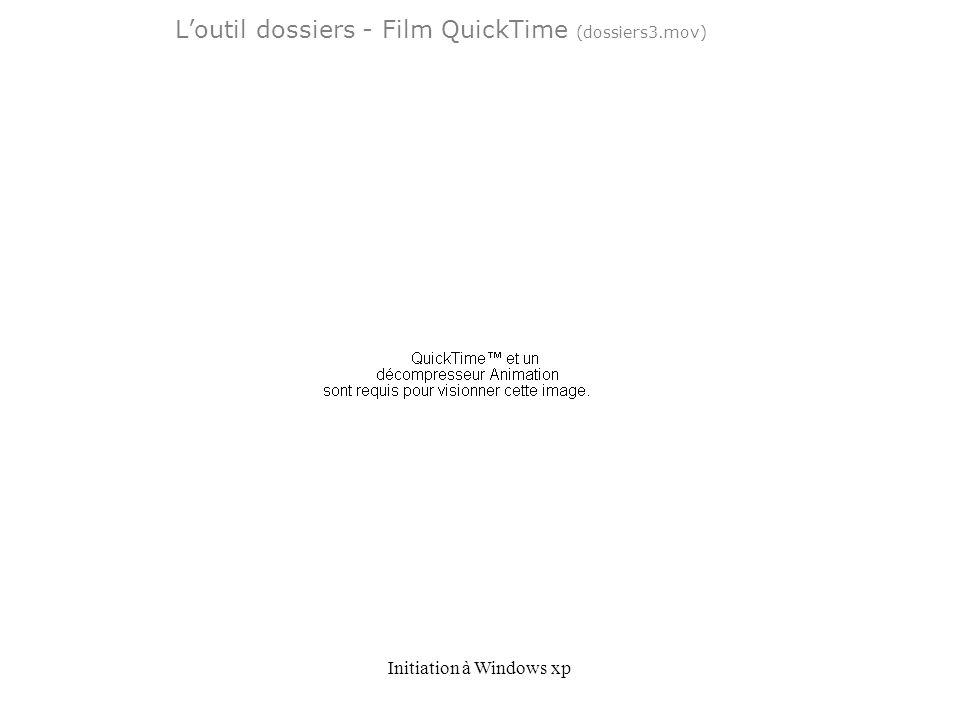 Initiation à Windows xp Loutil dossiers - Film QuickTime (dossiers3.mov)