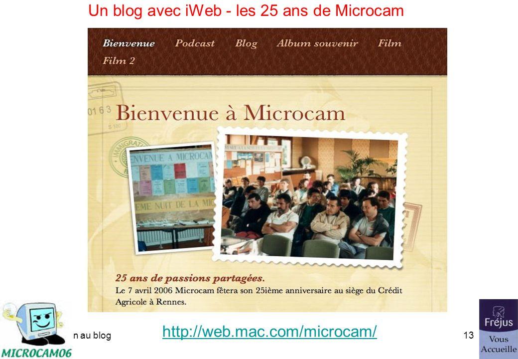 initiation au blog12 Un blog vu dans var matin du 15 mars 2006 http://web.mac.com/ycornil