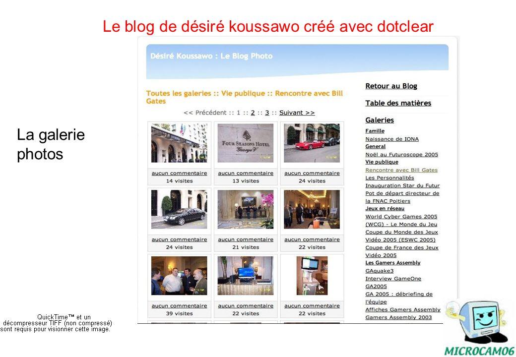 initiation au blog16 Le blog de désiré koussawo créé avec dotclear Commentaires