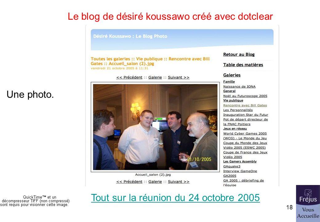 initiation au blog17 Le blog de désiré koussawo créé avec dotclear La galerie photos