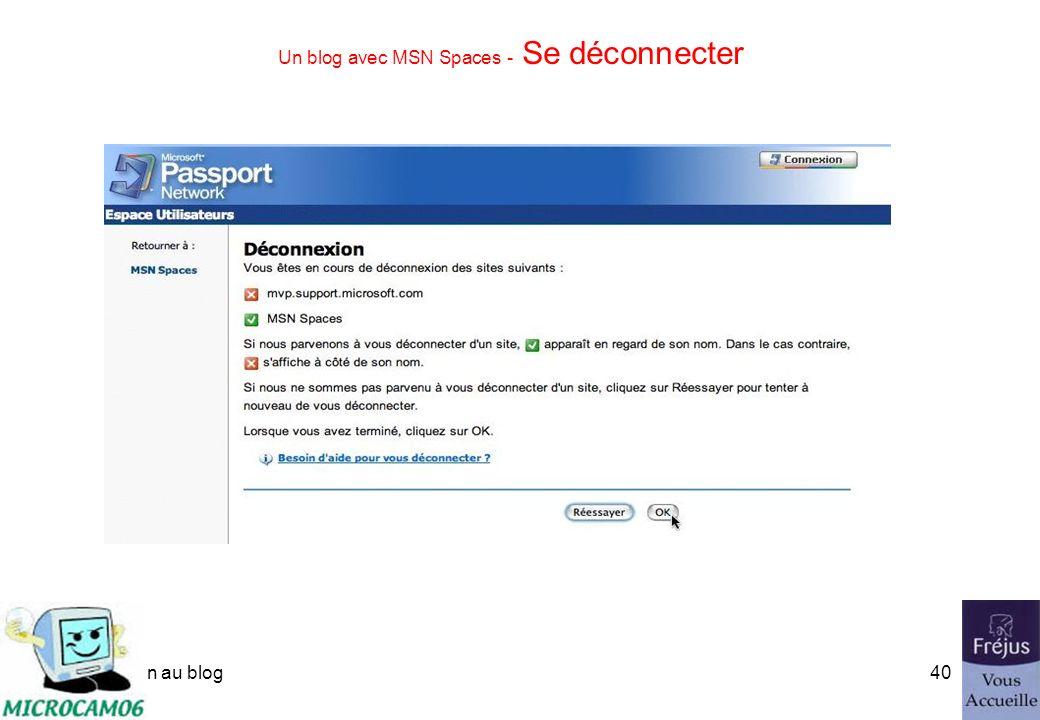 initiation au blog39 Un blog avec MSN Spaces - Personnaliser le profil Résumé du profil.