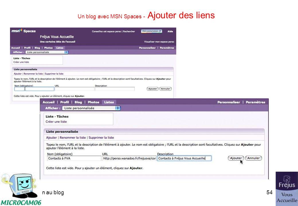 initiation au blog53 Un blog avec MSN Spaces - supprimer des commentaires.
