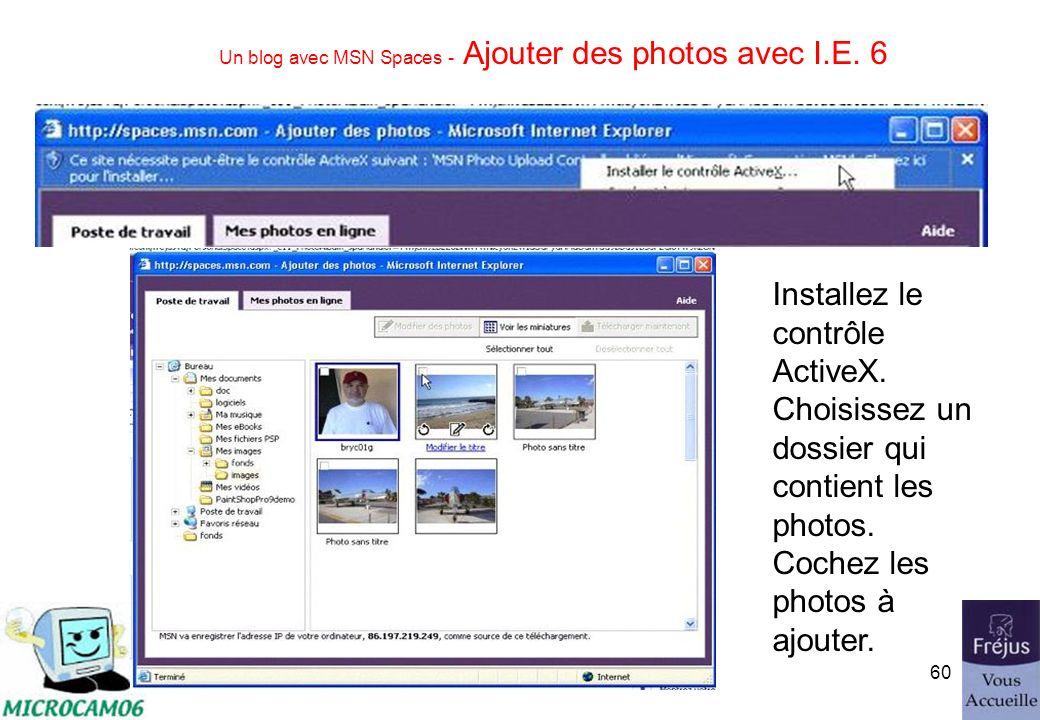 initiation au blog59 Un blog avec MSN Spaces - Ajouter des photos avec I.E. 6