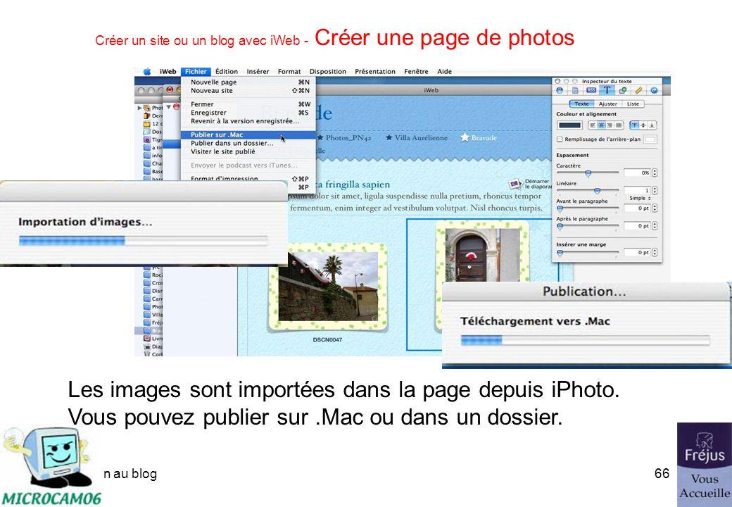 initiation au blog65 Créer un site ou un blog avec iWeb - Créer une page de photos Choisissez un modèle de page.