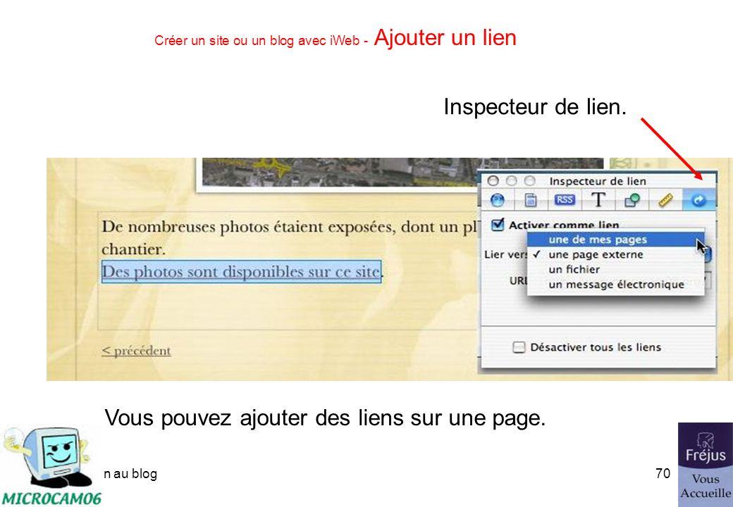 initiation au blog69 Créer un site ou un blog avec iWeb - Créer un blog Tapez le texte.