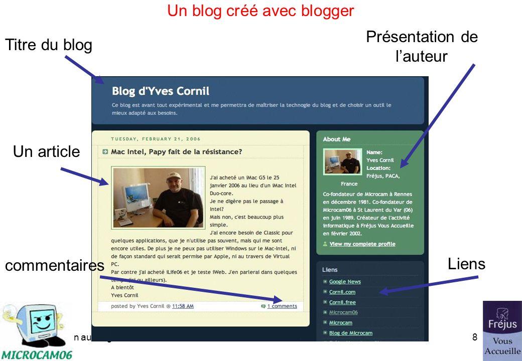initiation au blog7 Le blog, principes - Les commentaires Lien pour ajouter un commentaire Lien pour lire les commentaires