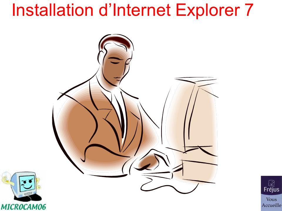 Installation dInternet Explorer 7