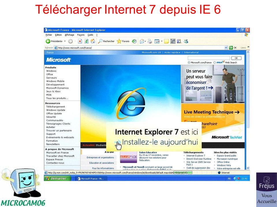 Télécharger Internet 7 depuis IE 6