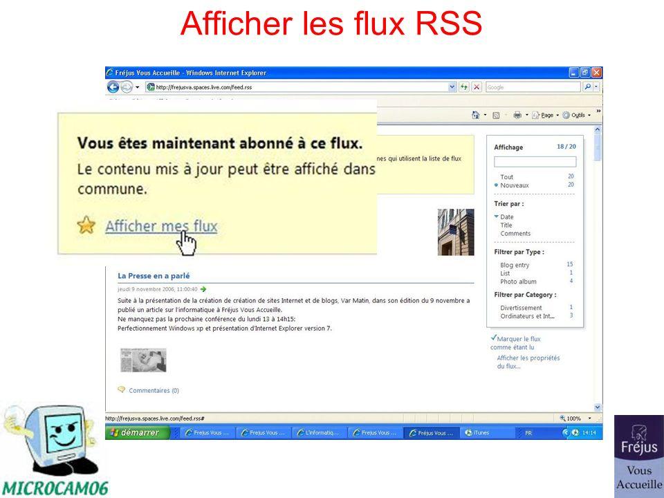 Afficher les flux RSS