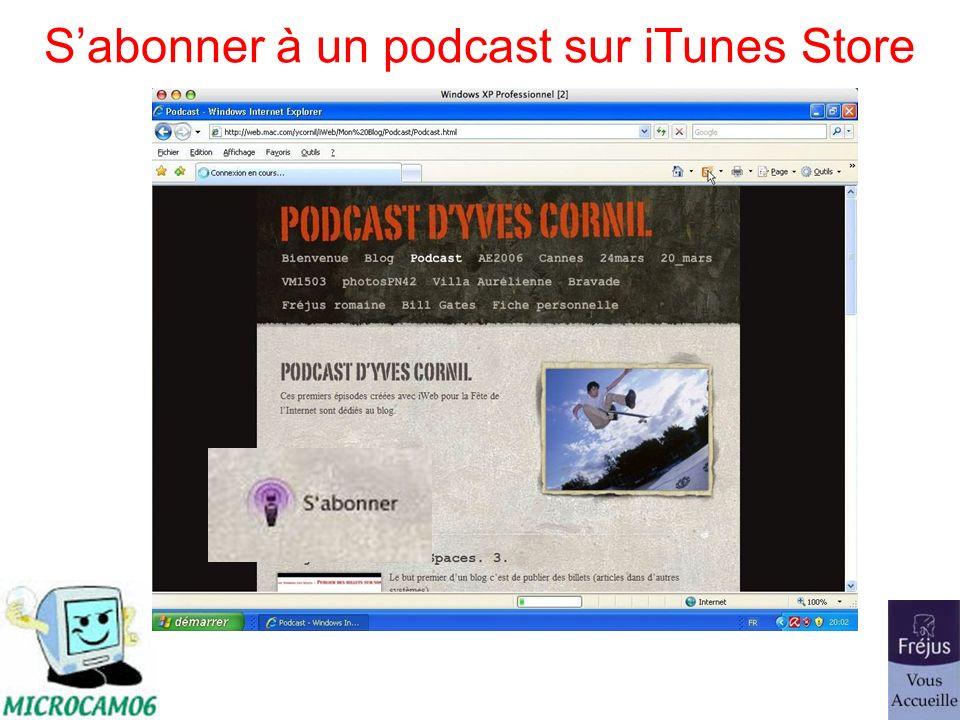 Sabonner à un podcast sur iTunes Store