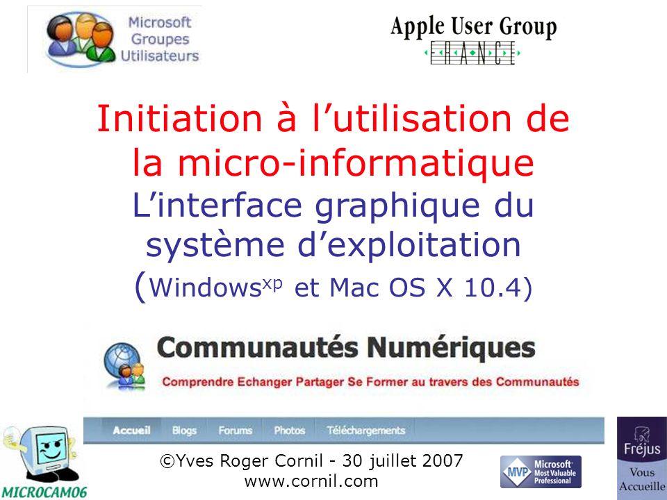 22 Exemple : manipulations des fenêtres sous Windows xp (film QuickTime)