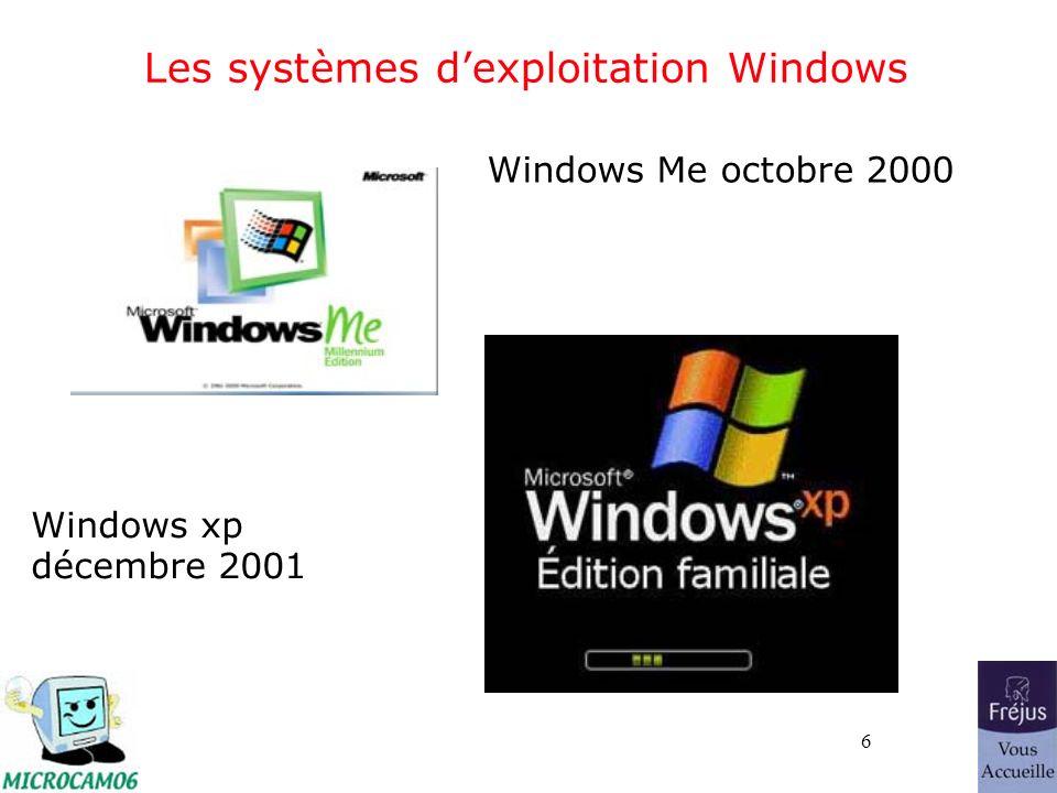 37 Exemple : Affichage des dossiers sous Windows xp (film QuickTime)