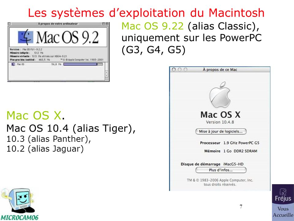 28 Quelques extensions Quelques extensions :.DOC : document Microsoft Word (95-2003-2001-2004) DOCX : document Microsoft Word 2007.XLS : feuille de calcul Microsoft Excel XLS : feuille de calcul Microsoft Excel 2007.EXE : exécutable (programme).GIF : image en format Gif (256 couleurs).JPG : photo en format jpeg (million de couleurs).MOV : film en format QuickTime.AVI : film en format AVI.MP3 : musique en format MP3