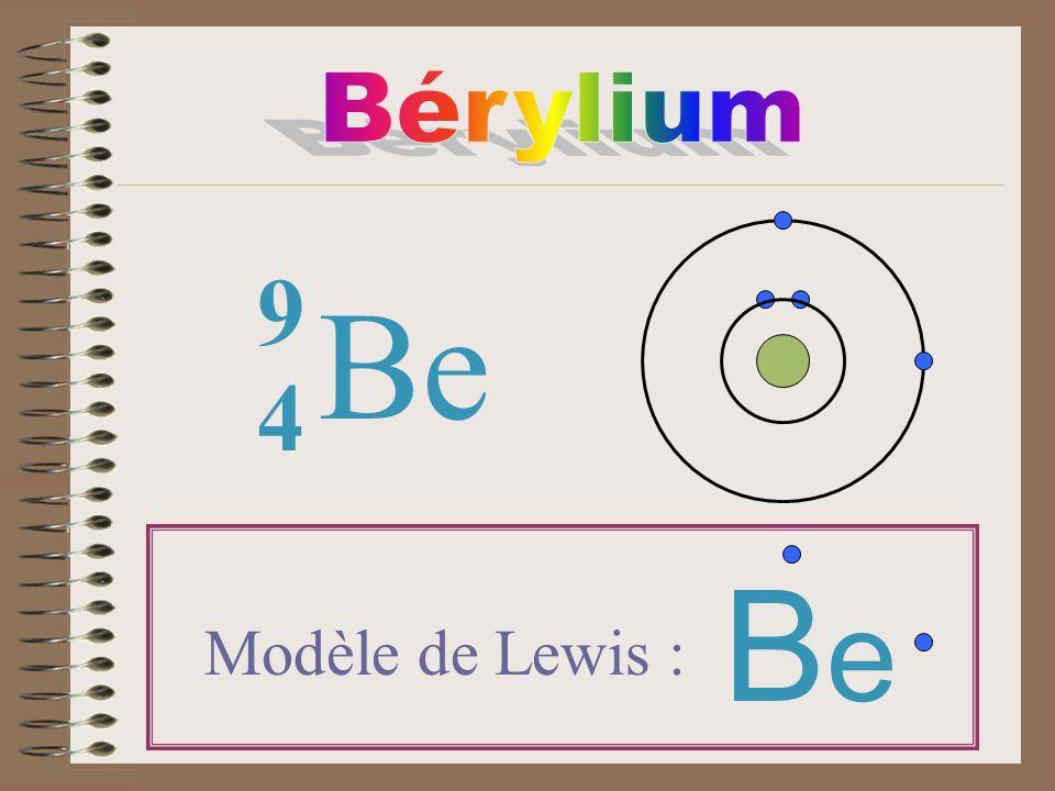 Be 4 9 Modèle de Lewis : BeBe