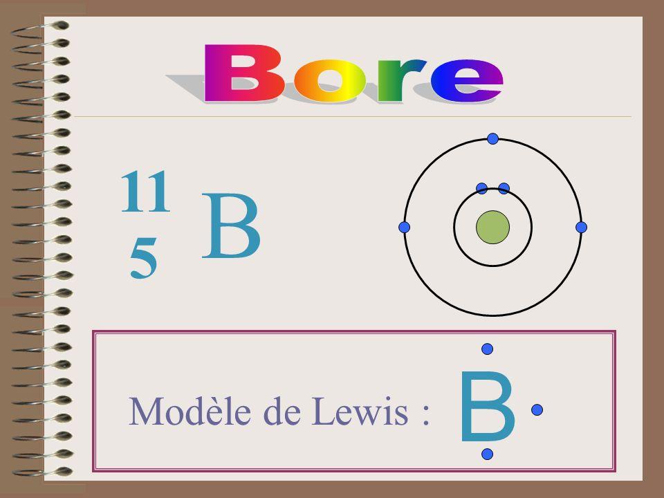 B 5 11 Modèle de Lewis : B