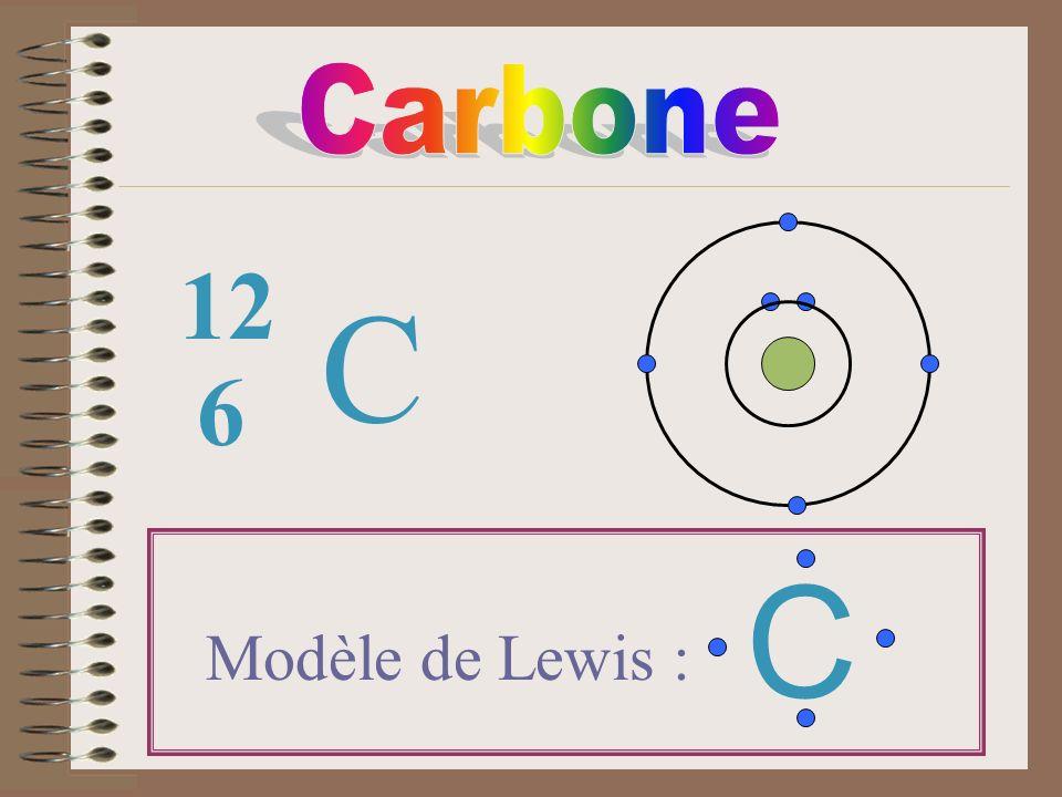 C 6 12 Modèle de Lewis : C