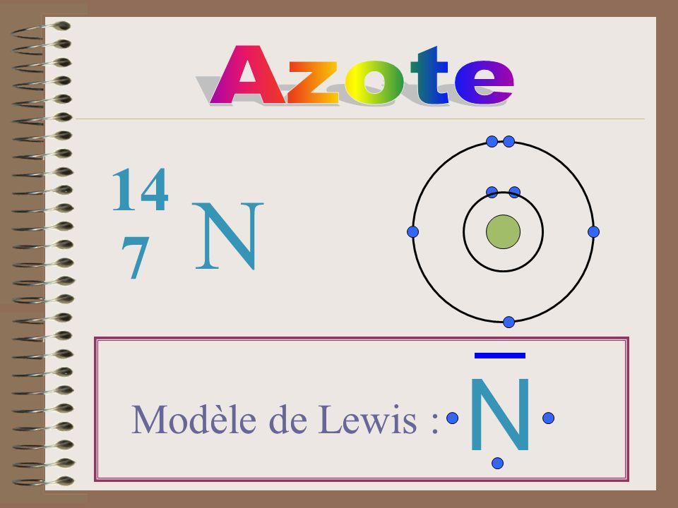 N 7 14 Modèle de Lewis : N