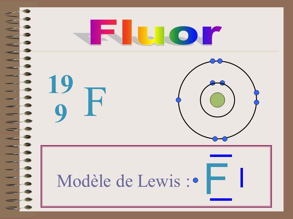 F 9 19 Modèle de Lewis : F