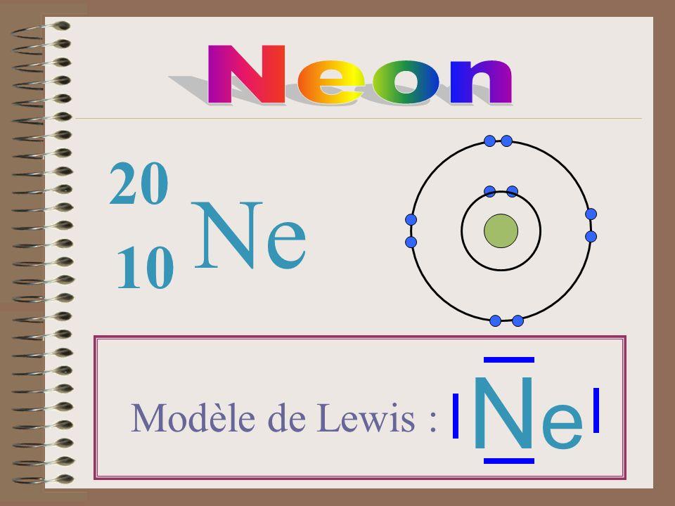Ne 10 20 Modèle de Lewis : NeNe
