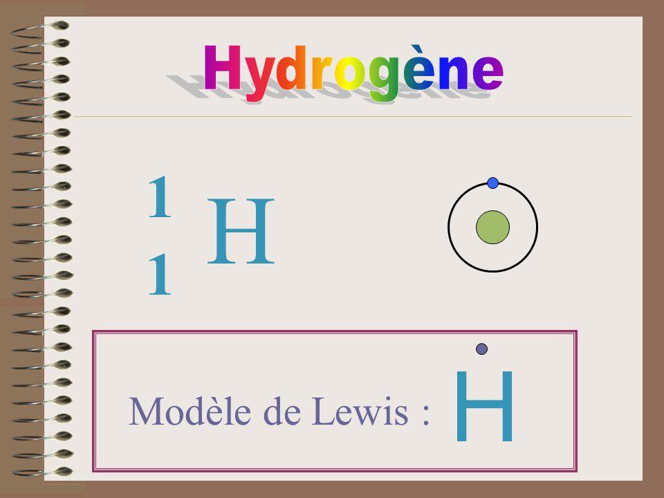 H 1 1 Modèle de Lewis : H