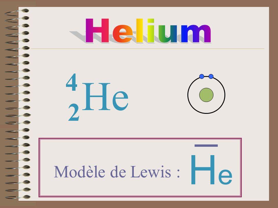He 2 4 Modèle de Lewis : HeHe