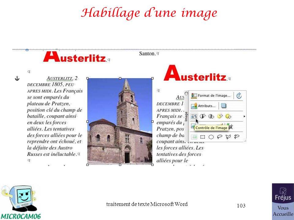 traitement de texte Microsoft Word 103 Habillage dune image