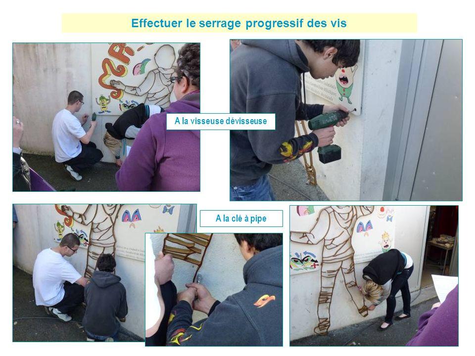 Effectuer le serrage progressif des vis A la visseuse dévisseuse A la clé à pipe