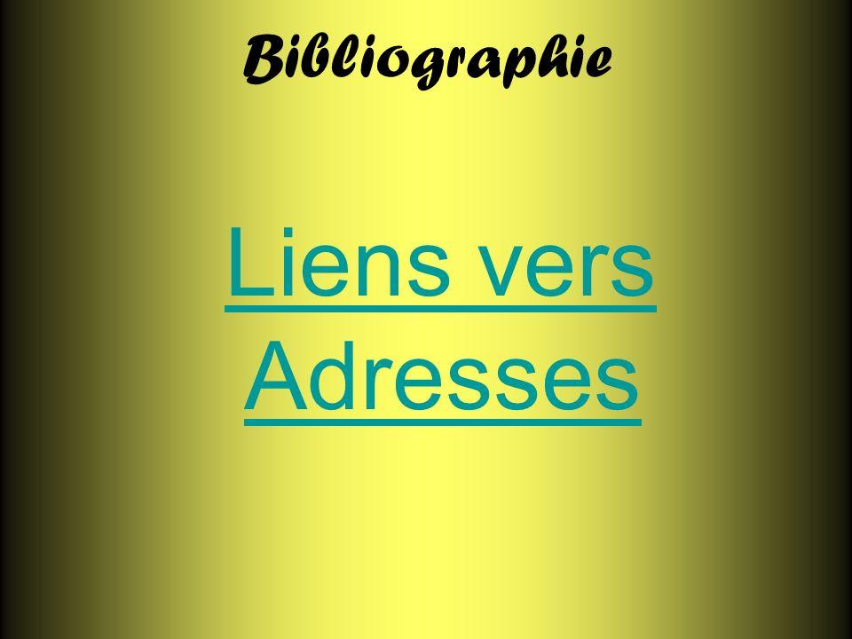 Bibliographie Liens vers AdressesLiens vers Adresses