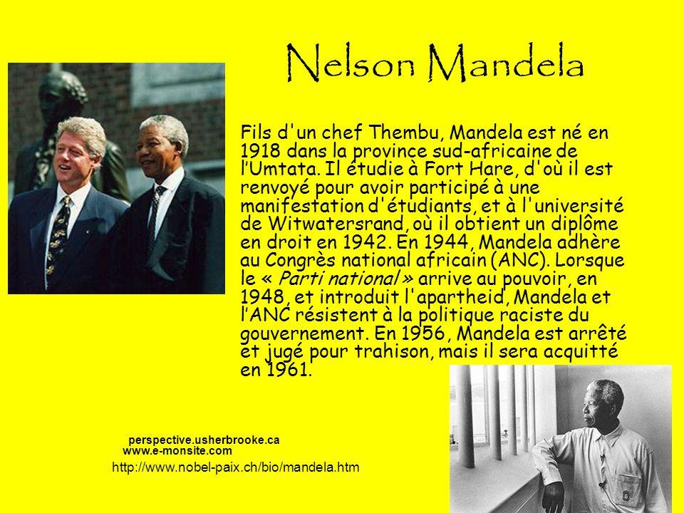 Nelson Mandela suite… Après le massacre de Sharpeville en 1960 (Le 21 mars 1960, la police sud-africaine ouvre le feu sur une foule de manifestants : 69 personnes sont tuées et il y a plus de 180 blessés.